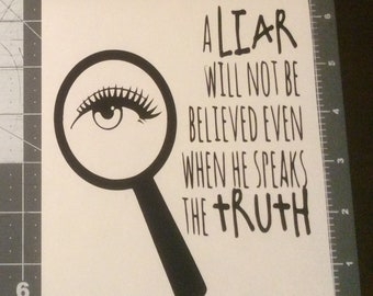 Liar Vinyl Adhesive Decal