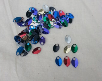 Dragon Scales - Aluminum - Tiny - Rainbow - Sets of 100