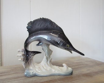 Ceramic Sword Fish Figurine