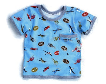 Baby Boy Cotton T-Shirt, Infant Boy Cotton Shirt, Baby Boy Summer Clothes,  Baby Boy Gift