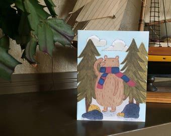 Wandering Bear Greeting Card
