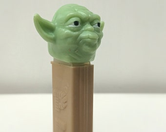 Vintage Star Wars Yoda PEZ Dispenser Kids Gift, 90's Star Wars PEZ Collectible, Jedi Master Yoda, Empire Strikes Back