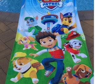 Paw Patrol Team with Ryder Beach Towel - Personalized Beach Towel