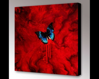 Butterfly Wall Art | Gothic Home Decor | Abstract Art | Butterfly Decor | Blue Butterfly Art | Insect Art | Modern Art | Gothic Decor