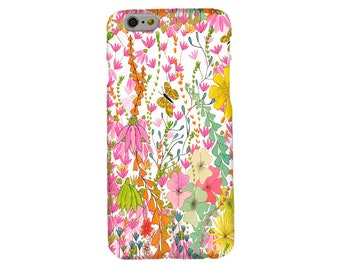 Spring Florals Phone Case, Mobile, Cell, iphone 5, SE, 6, 6s, 7, 8 Plus Samsung S5, S6, S7, S8, accessories, flowers