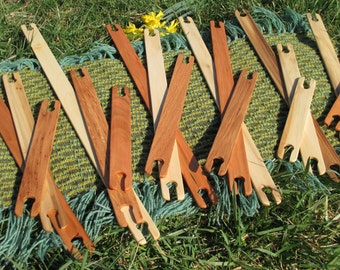 "6"",8"",10"",12"",14"",16"",18"" Mixed Wood Stick Shuttles/Weaving Shuttles/Sustainable Wooden Shuttles"