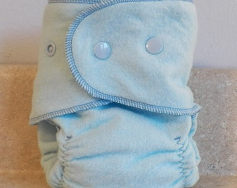 Fitted Small Cloth Diaper- 6 to 12 pounds- Baby Blue- 17011