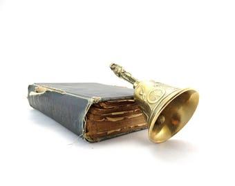 Vintage Brass Bell - Napoleon Brass Bell - Collectible Bell - Battle of Waterloo - Dinner Reception Bell - Dinner Bell - Brass Hand Bell