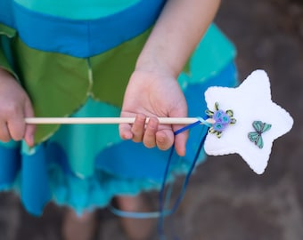 Magic Wand, Fairy Wand, Costume Accessory, Birthday Gift, Princess Wand, Gift for Kids, Dress Up, Fairy Party, Party Favor, Butterfly Wand