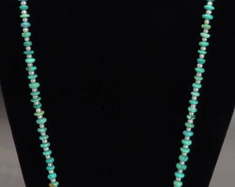 Pretty Modern Turquoise & Pearl Long Necklace