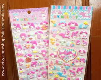 PUFFY My Melody sticker, Miffy sticker, Cartoon sticker, Rabbit sticker, Nintendo sticker, My Melody, Sanrio sticker 28 29