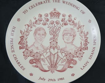 MASON'S Plate to Celebrate Wedding of Prince Charles & Lady diana Spencer July 29th 1981