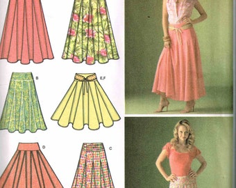 Sewing Pattern Misses Inverted Pleat Skirt Simplicity 4188 Size 8, 10, 12, 14, 16 New Uncut