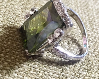 Green Emerald Stone Ring