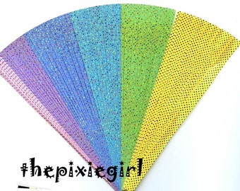 ORIGAMI PAPER 3D Star Kit Shiny Twinkling Dot hologram 60 Strips