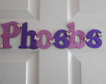 Personalised name plaque, Door name sign, Door name plaque, Price per letter