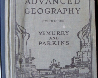 Vintage Geography Book The MacMllan Compan 1928 Illustrated Geography Charts Maps Photographs Vintage Textbook Geography