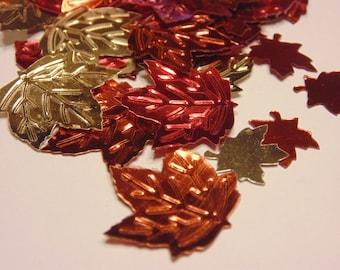 1 bag of shinny fall leaf confetti, 15-24 mm (11)