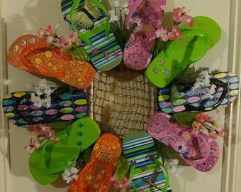 Flower Flipflop Wreath