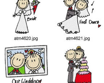 A-Kids-View-Wedding ( 7 Machine Embroidery Designs from ATW ). XYZ17C