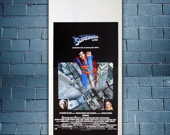 Original Movie Poster  Superman - Christopher Reeve - Marlon Brando
