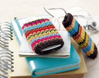 Instant Download - PDF- EASY Phone and ipod Cover Knitting Pattern (KA4)