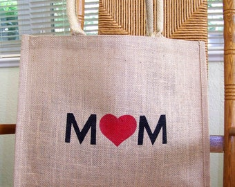 Mom tote bag, Mother's day gift, Gift for her, Stenciled tote bag, reusable tote bag, Market bag, FREE SHIPPING!