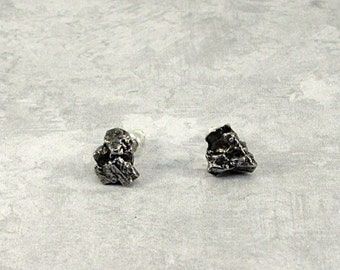 Campo del Cielo Meteorite Earring Sterling Silver Studs Secure Clasp - #D07