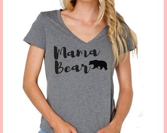 Mama bear shirt, mother's day gift, new mom gift, momma bear, mama shirt, mama bear tshirt, mama bear v neck, momma bear shirt, t shirt