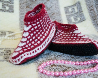 Wool Knitting Seamless Slipper Boots Cozy Hygge Warm Soft for Home