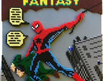 Amazing Fantasy Spider-Man Pixel Pattern - Perler Beads - Cross Stitch - INSTANT DOWNLOAD