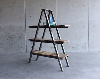 Beautiful Handmade Vintage Industrial Ladder Shelf