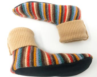 Waldorf Wool Slippers, Kid's Large, Non-Slip, Size 13 1/2 to 2 1/2, 6 1/2  to 8 1/2 Years, Ready to Ship, Kids Large, Wooly Wearabl