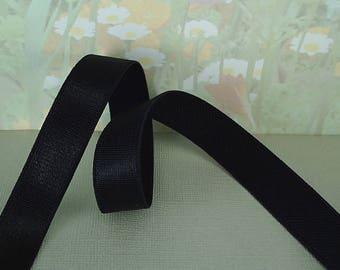 "3yds Black Elastic Satin 1/2"" inch Shiny elastic diy bra straps lingerie elastic waistband headband supplies"