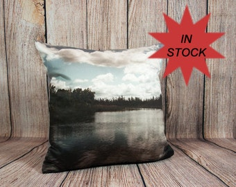 Lake House Decor, Coastal Decor Ideas, Housewarming Gift Throw Pillow Cover, Nautical Pillow, Beach Theme Pillow Case, Camper Decor 14x14""