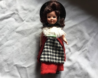 Vintage Welsh tourist doll standing approx seven inches tall