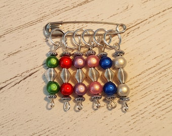 6 Rainbow Stitch Markers
