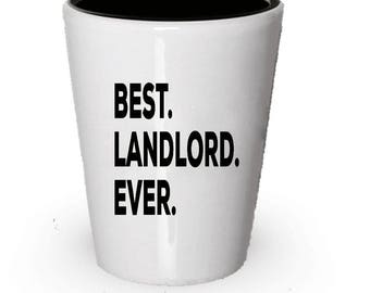 Landlord Shot Glass, Best Landlord Ever, Landlord gift, Gift for Landlord , Birthday Gift, Christmas Present