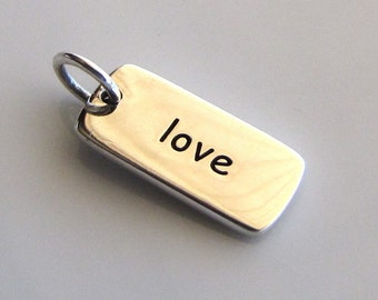 LOVE Sterling Silver Word Charm
