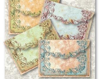Antique Frame Envelopes Digital Collage Sheet Download -546- Digital Paper - Instant Download Printables