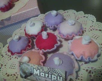 Cup cake magnet pannolenci