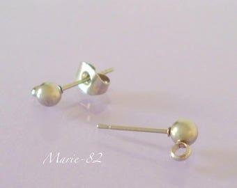 Stud Earrings 4 mm stainless steel