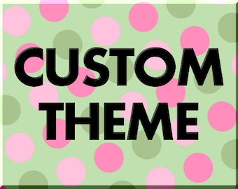 CUSTOM THEME - based on a clip art package from ETSY