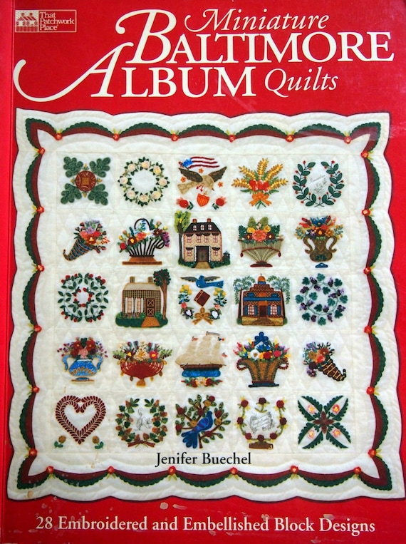 Miniature Baltimore Album Quilts 28 Embroidered And