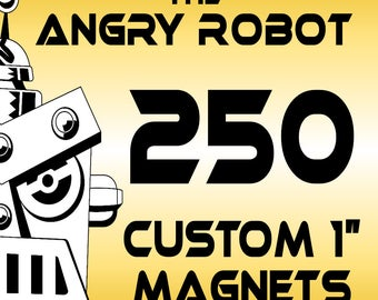 """250 Custom Professionally Made 1"""" Button Magnets - 1 inch"""