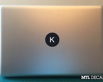 Custom Macbook Monogram Decal / Macbook Pro Sticker