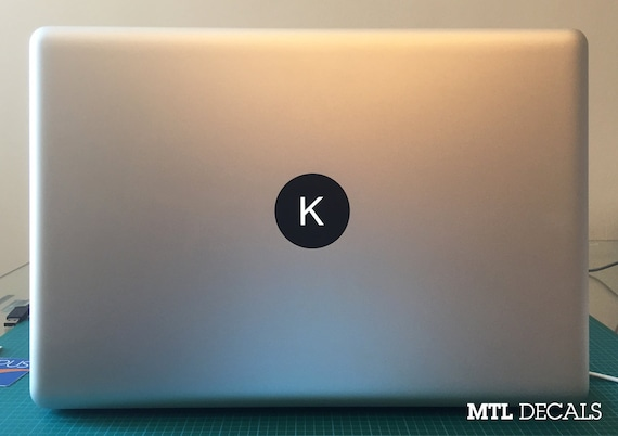 Custom macbook monogram decal macbook pro sticker