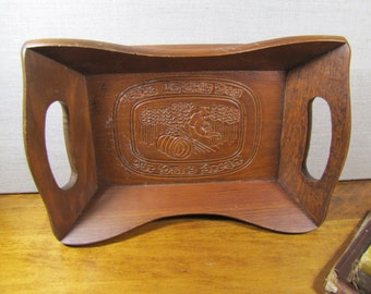 Carved Wooden Bread Tray