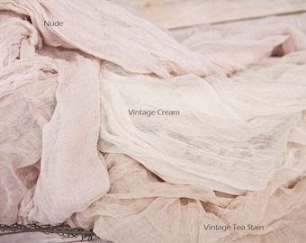 Color Choice Sheer Elegance Table Runner Weddings Special Events Centerpiece Decor Hand Dyed Cotton Scrim Cheesecloth Rustic TableRunner