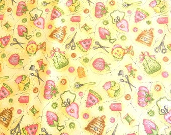 Clothworks Sew and Sew Assessories Yellow Y0866-9